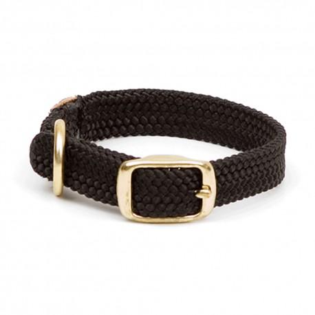 """Collar c/Broche Dorado 1"""" x 21"""" - Negro - Envío Gratis"""
