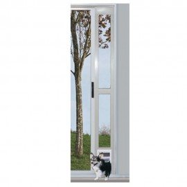 """Puerta de Aluminio para Perros Blanca 7"""" x 11"""""""