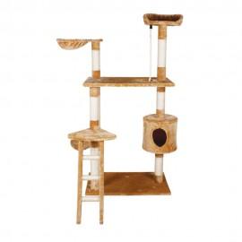 Mueble para Gato con Casa y Escalera